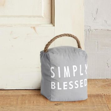 Simply Blessed Doorstop