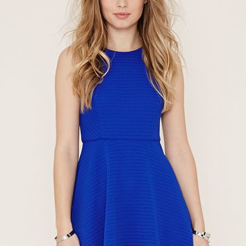 Textured Fit and Flare Dress | Forever 21 - 2000187560