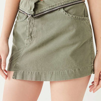 UO Zipper Waist Utility Mini Skirt | Urban Outfitters