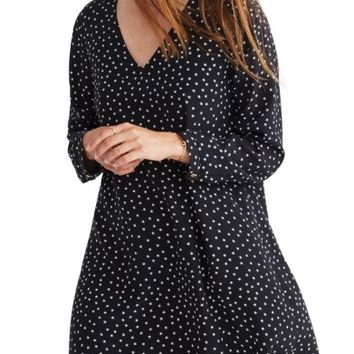 Madewell Star Silk Button Back Dress | Nordstrom