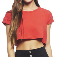 Roll Sleeve Crop Tee | Wet Seal