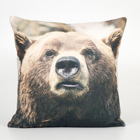 Bear Decor. Bear Pillow Cover. Sofa Throw Pillow. Couch Throw Pillow. Cabin Pillow. Double Sided Pillow Case. Bear Home Decor. Bear Portrait