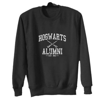 hogwarts alumni sweater Black Sweatshirt Crewneck Men or Women for Unisex Size with variant colour