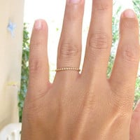 Gold ring, Size 7, thin delicate ring, bridal jewelry,thin ring, stacking ring, gold bangle, slim stacking ring, gold filled ring,