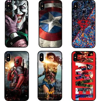 Deadpool/iron Man/ Marvel Avengers KingKong Star Wars Phone Hard PC Phone Case For iPhone 5 5s SE 6 6s Plus 7 7Plus 8 8Plus X 10