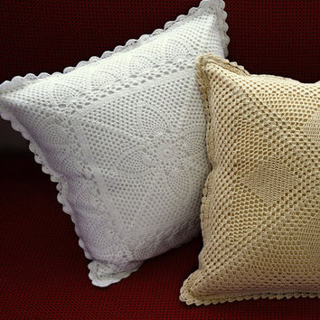 Valentine Elite CROCHET CUSHION - HANDMADE- Crochet Pillow - Throw Pillow - Sofa Cushion - Decorative Cushion Ideas -  Premium Home Decor