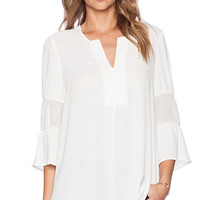 BCBGeneration Blouson Sleeve Top in Cream