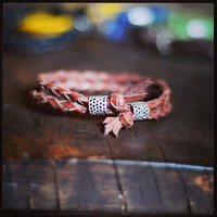 MADE TO ORDER� Unisex Adjustable Braided Kangaroo Leather Wristband available in a range of colours