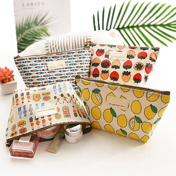 high quality Beauty Travel Cosmetic Bag Girl Fashion Multifunction Makeup Pouch Sharpener Stationery Storage Bag School Supplies