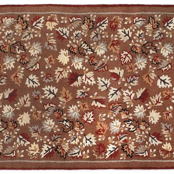 Autumn Leaves 4'x6' Hooked Rug