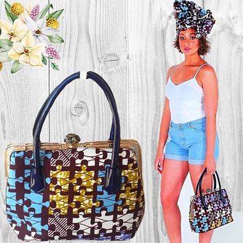 Melly Brown Large African Print Bag