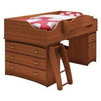 Imagine Storage Loft Kids Bed Cherry (Twin) - South Shore : Target