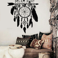 Vinyl Wall Decal Dream Catcher Dreamcatcher Amulet Bedroom Stickers (ig3355)