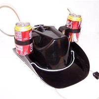 1 NEW COWBOY DRINK BLACK WESTERN HAT  novelty party hats beer LADY MENS western