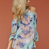 West Coast Wardrobe Groovy Love Mini Dress in Jade/Navy   Boutique To You