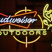 Budweiser Deer Outdoors Neon Sign