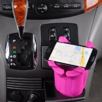 Hercules Holder Universal Smart Phone + Iphone Holder in PINK, Works in Cars, Cup Holders and on Flat Surfaces, Works with Most Smartphones:Amazon:Cell Phones & Accessories