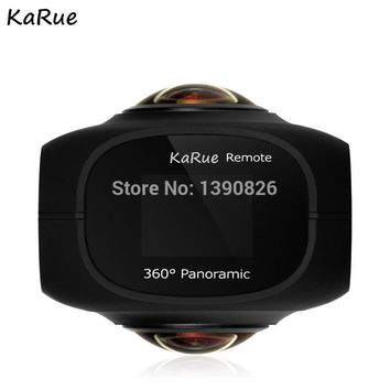 "karue  Dual Lens Panoramic Camera 4k HD 360 Camera Wifi 1"" Screen Mini Digital Camera Video For Android iphone6/6s/7 iOS"