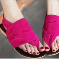 Women Flat Heel Flip-Flop Flip Casual Sweet Sandals For Woman Shoes (US Size) = 1646036612