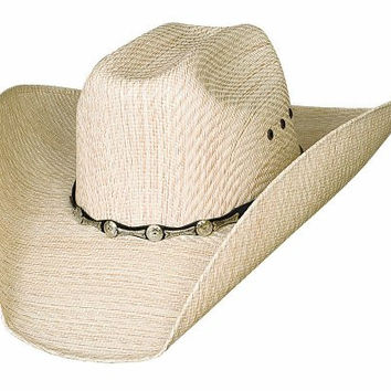 """Natural 6 3/4 """"Backwoods"""" 50X Tuff Straw Western Hat from the Justin Moore Collection"""