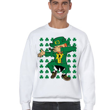 Dabbing Irish Leprechaun St patrick men sweatshirt
