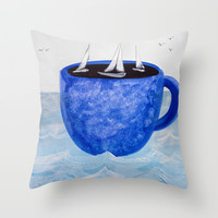 The Wind in Your Sails Throw Pillow by Robin Maria Pedrero