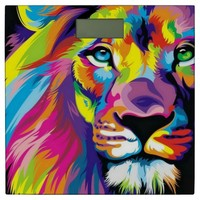 Colorful Lion Bathroom Scale