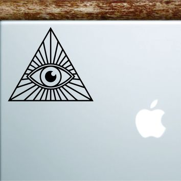 All Seeing Illuminati Eye Laptop Apple Macbook Car Quote Wall Decal Sticker Art Vinyl Inspirational Motivational Funny