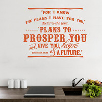 Wall Decal Bible. For I Know the Plans I Have For You v2 - CODE 140