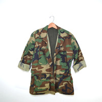 Vintage Army Camo Jacket Camo Shirt Woodland Camo Jacket US Military Camo Jacket Army Jacket Army Shirt