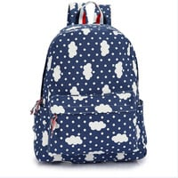 College canvas casual backpack