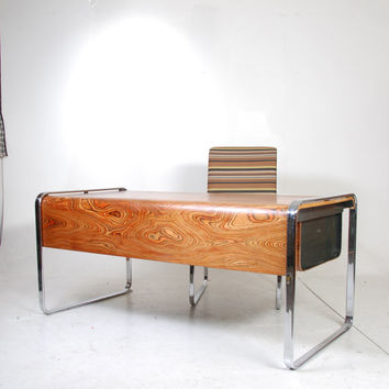 "Herman Miller ""Zebrawood"" Desk by Peter Protzman"