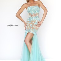 Sherri Hill 11110 High Low Lace Prom Dress