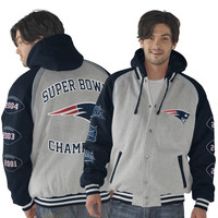 New England Patriots Rookie of the Year Super Bowl Champions Commemorative Jacket - Ash/Navy Blue