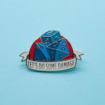 Dungeons and Dragons Dice Pin, Dnd Enamel Pin Art, d4 d8 d6 Pin, RPG Dice Enamel Pin, Tabletop RPG pin, Dungeon Master Gift