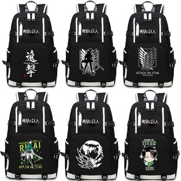 Cool Attack on Titan Japan Anime no  Scouting Legion Schoolbag  Backpack Shoulders Bag for Students book bag package AT_90_11