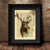 Reindeer, Reindeer Print, Reindeer Art, Wall Poster, Home Decor, Reindeer Poster, Animal Art, Watercolor Art, Watercolor Print -46