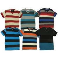 Men's Assorted Striped Vneck T-Shirts