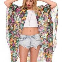 Jules Floral Cape | GYPSY WARRIOR