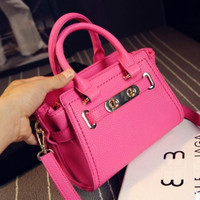 Winter Stylish Mini Bat One Shoulder Bags Lock [6582897543]