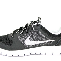 Nike Kid's Flex 2015 Run Black/Silver/White Running Shoes 724993 005 PS
