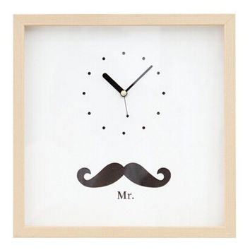 beard wood clock