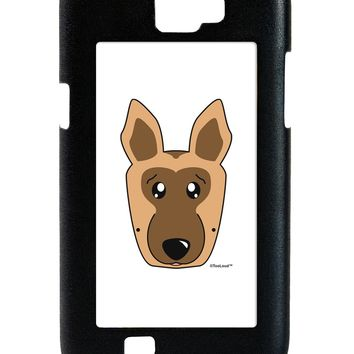 Cute German Shepherd Dog Galaxy Note 2 Case  by TooLoud