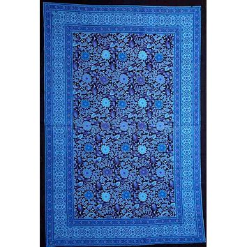 Cotton Sunflower Tapestry Wall Hang Bedspread Twin Tablecloth 70x104 Blue