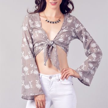 BELL SLEEVE Crop Top