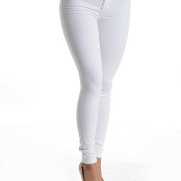 Kan Can White Skinny Jeans