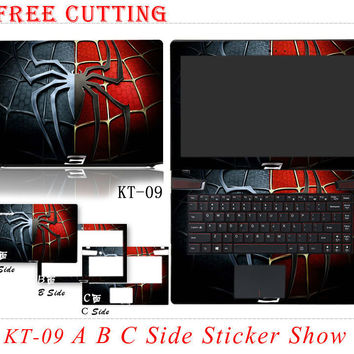 2015 Fashion Laptop Stickers Waterproof Personality Skins Colorful PVC Protective Case Customize Decal For Dell  Model Series