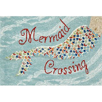 Trans Ocean Frontporch Mermaid Crossing Area Rug
