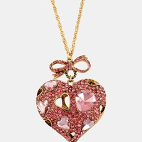 Betsey Johnson 'Iconic Pinkalicious' Long Heart Pendant Necklace | Nordstrom