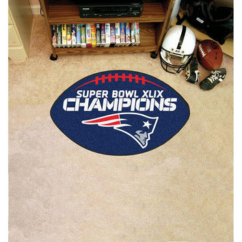 New England Patriots Super Bowl XLIX Champions Football Rug 22x35